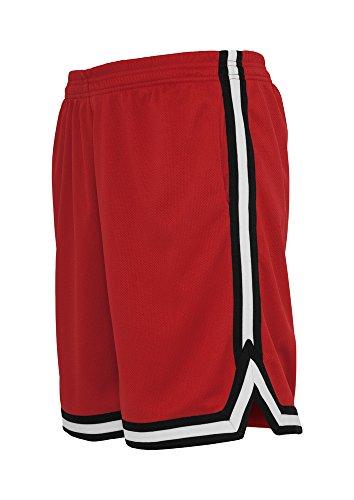 Urban Classics TB243 Herren Shorts Stripes Mesh redblkwht