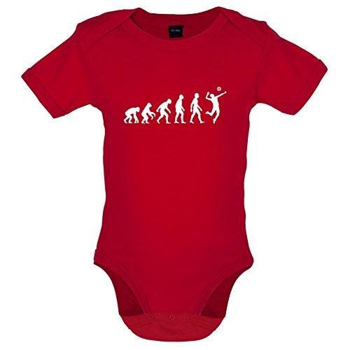 Dressdown Evolution of Man Volleyball - Lustiger Baby-Body - Rot - 3 bis 6 Monate