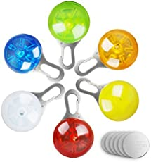 morpilot 6 Pcs Sicherheits Clip-On LED Blinklicht, LED Licht Leuchtanhänger Schlüsselanhänger 3 Blinkmodis für Kinder,Läufer,Jogger,Walker,Fahrradfahrer,Outdoor Tiere wie Hunde,Katze