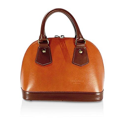 Glamexx24 Borsa Vera Palle Da Donna A Mano Casual Borsetta Tracolla Elegante Clutch Made In Italy 1 001 1 001 4 Marrone