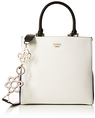 Guess Damen Bags Hobo Umhängetasche, Mehrfarbig (White Multi), 13x28x28.5 centimeters