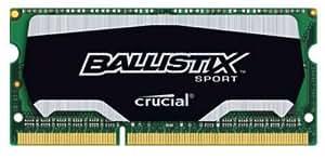 Crucial 8GB Ballistix Sport DDR3-1600 8Go DDR3 1600MHz module de mémoire - modules de mémoire (8 Go, DDR3, 1600 MHz, Ordinateur portable, 204-pin SO-DIMM, 1 x 8 Go)