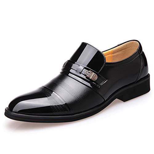 Mocassini da uomo comodi mocassini in pelle con punta a punta scarpe da lavoro per ufficio
