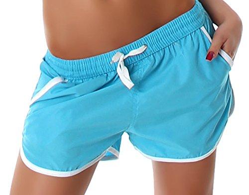 Veryzen short pour femme avec empiècement abgesetzen bords colorés Turquoise - Turquoise