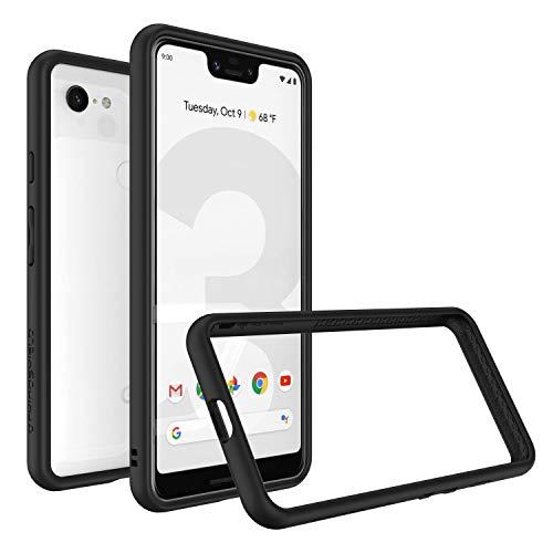 Rhino Shield Bumper Case für Google Pixel 3 XL [CrashGuard] Schock Absorbierende Schutzhülle mit minimalistischem Design [3,5 Meter Fallschutz] - Google Pixel 3 XL Hülle Schwarz