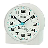 Seiko Wecker, Kunststoff, weiß, 8.2 x 7.8 x 4.3