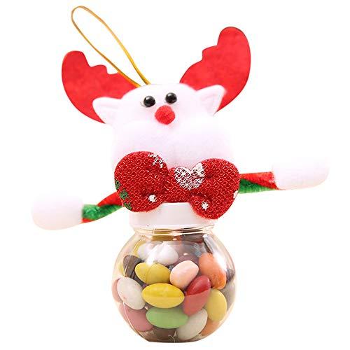 VICKY-HOHO süße Weihnachten Süßigkeiten Lagerung kann Dekor für Haus Geschenk Keks Lebensmittel Aufbewahrung Glas -