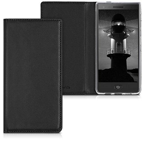 kwmobile BlackBerry Motion Hülle - Kunstleder Handy Schutzhülle - Flip Cover Case für BlackBerry Motion