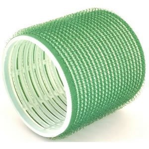 Hair Tools Velcro Cling Hair Rollers - Jumbo Green 61 mm x 6 by Hair Tools