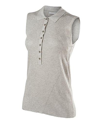 Falke–shorts leeved polo natural women abbigliamento sportivo, donna, shortsleeved polo natural women, grigio chiaro mélange, 2xl