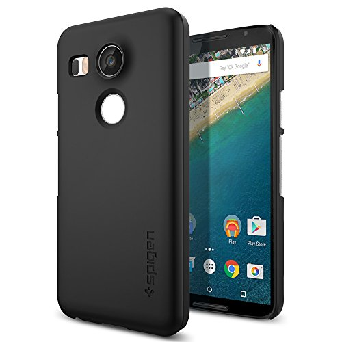 Spigen Nexus 5X Hülle, [Thin Fit] Passgenaues [Schwarz] Premium HartPC Schale/Schlanke Handyhülle/Schutzhülle für Nexus 5X Case, Nexus 5X Cover Black (SGP11756)