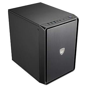 Evo Labs e-a2Ordinateur cas–Mini ITX, USB 3.0, noir