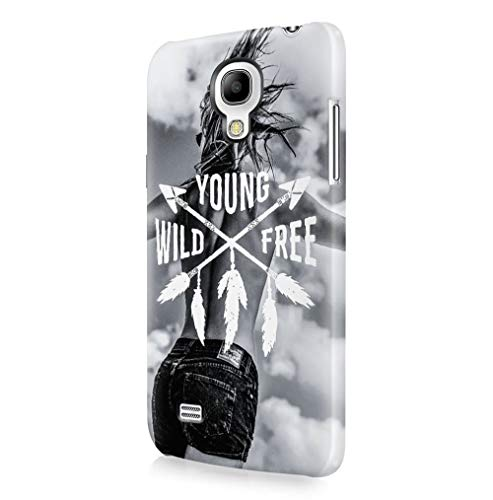 Maceste Young Wild and Free Sexy Blonde Girl Indie Free Spirit Wasted Youth Kompatibel mit Samsung Galaxy S4 Mini SnapOn Hard Plastic Phone Protective Fall Handyhülle Case Cover