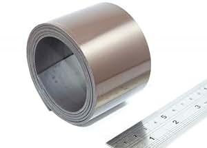 Bande magnétique autocollante super qualité - type A anisotrope - 1,5mm x 25,4mm x 5m