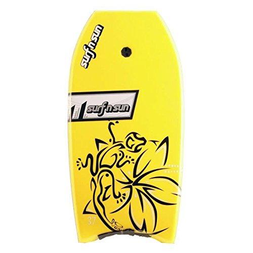SURF & SUN Bodyboard Similar EPS 33' - Rose et jaune fluo