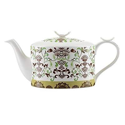"""Théière Modern Jameson & Tailor/Théière de""""Bohémien"""" / Cafetière en porcelaine brillante de 1100 ml/Convient aux lave-vaisselle et micro-ondes"""