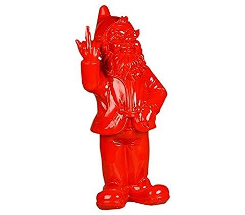 Stoobz PP 005RO 15x 12x 32cm Nain de jardin malicieux pour la maison et le jardin–Rouge