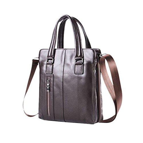 Herren Tasche Umhängetasche Diagonal Paket Leder Handtasche Business Paket Freizeit Mode Atmosphäre Einfach Brown
