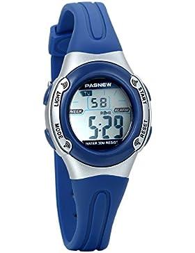 avaner Cool Wasserdicht LED Elektronische Digital Sport Uhren mit Blau Rubber Strap Alarm Chronograph Stoppuhr...