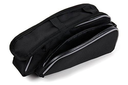 DURAGADGET Fahrrad-Tasche/Rahmentasche mit 2 Fächern und kapazitivem Handy-Fach für Bestore A8 | A9 und Toughgear Smartphones –