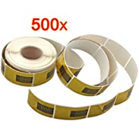 500 X Pegatinas Moldes Guías Uñas Dorados Auto Adhesiva