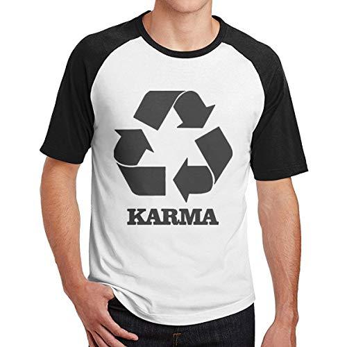 Sporsy Kurzarmshirt Hemden Mens Karma Recycle Leisure Raglan T-Shirt Combed Cotton Tee T-Shirt Top (Guy Harvey-t-shirt)