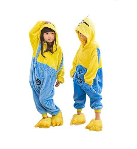 Onesie Kinder Minions Kostüme Cosplay Größe Jumpsuits Pyjama -