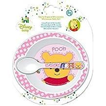 Set Microondas 2 piezas (Cuenco polipropileno y Cuchara) Winnie Baby Rosa Homemade Hugs