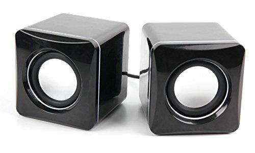DURAGADGET Altavoces Compactos Para Reproductor de MP3 VicTsing GEPA080AB | AGPtek R2 | A02 | KLANGTOP | Etekcity BK8 | Swees - Tamaño Mini - Alta Calidad - Conexión Mini Jack + USB