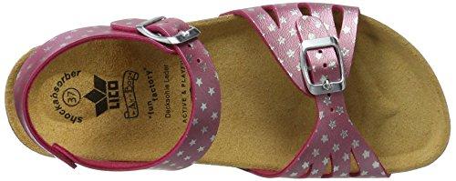 Lico - Bioline Sandal, Pantofole Donna Pink (PINK/SILBER)