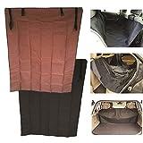 WSS 2 in 1 Telo Impermeabile per Bagagliaio Auto Copri Sedile Cane Gatto Protezione Tappeto di Rivestimento per Bagagliaio (Marrone)