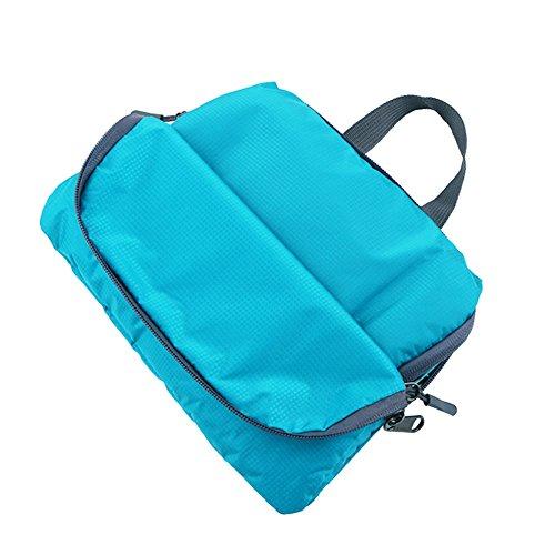 Zaino impermeabile esterna, EverFabulous 22L Ultra leggero Packable zaino in bicicletta Escursionismo Zainetto pieghevole pratico del casual Zainetto zaino da viaggio (Blu) Lake blue
