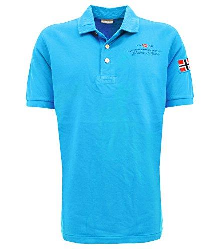 Polo Napapijri Elbas Turchese XL Blu