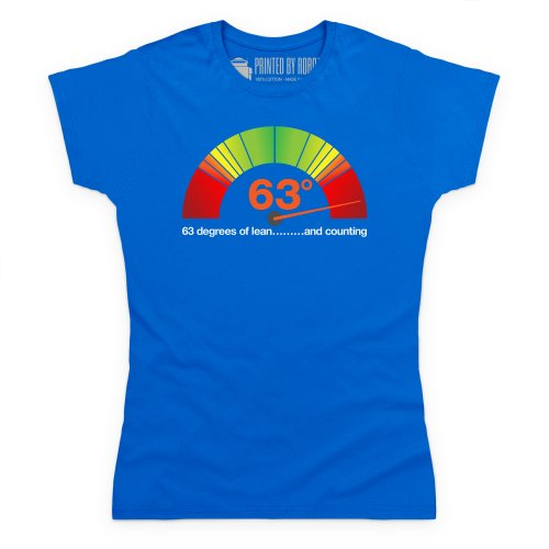 63 Degrees of Lean T-Shirt, Damen Royalblau