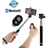 Supreno Remote Operation Selfie Stick With Bluetooth Remote Great For Vblogs, Group Pictures, Outings (1 Year Warranty, Assorted Colour)