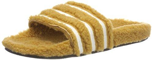 Adidas adilette w scarpe da spiaggia e piscina donna,beige (mesa/blatiz/negbás 000), 39 eu