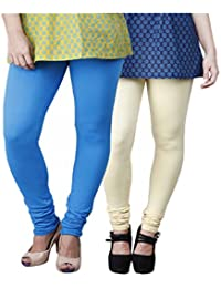 Limeberry Women's Cotton Legging Pack of 2 (LB-2PCK-LEGG-CMB-9_Multicolor)