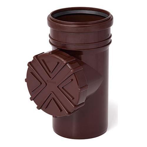 Dachrinne Spule (Gutter spülen System reinigt mit Sieb 110mm Rohrdurchmesser braun Farbe)