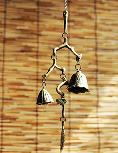 Antike Kupfer-zweig (LJXLXY Zweige Windspiele Glocken Schmiedeeisen südlichen Gusseisen Ornamente Ornamente Antikes Kupfer Ornamente nach Hause)