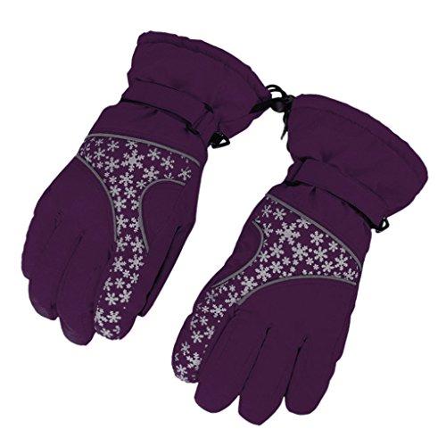 BXT Damen Ski Handschuhe 360 Grad Thermische Verdichte Reflektierende Handschuhe für Radfahren Skifahren Schilaufen im Winter (Reflektierende Handschuhe Radfahren)
