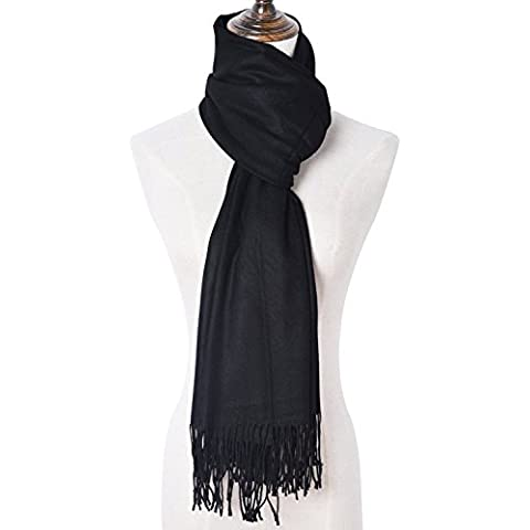 Cozy sólido color mantón Bufanda para mujer Bufanda de moda pañuelo para mujer Pañuelo de moda