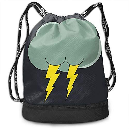 Rtytgfdw Multi-Functional Unisex Thunder Cloud Shopping Bag