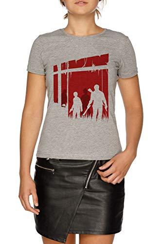 Zuletzt Menschen Damen Grau T-Shirt Größe M | Women's Grey T-Shirt Size M (Last Clicker Us Of The)