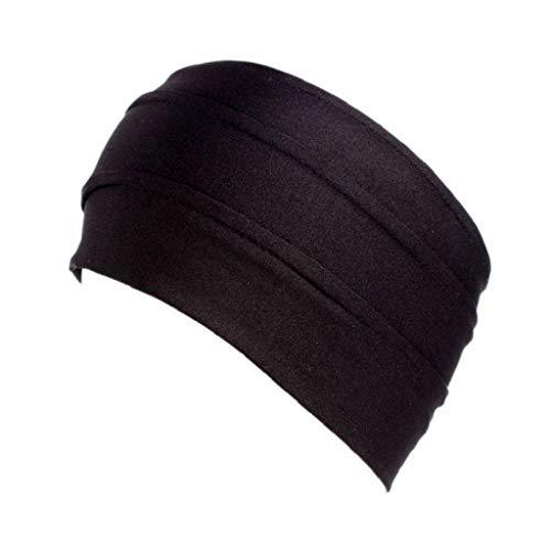 Kopfschmuck,Sasstaids Frauen damen sport yoga kopf warp haarband breite elastische stirnband wh