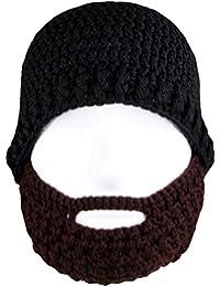 Amurleopard Romains chevalier tricot bonnet barbe chapeaux de masque pour hommes taille unique