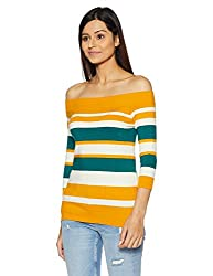 United Colors of Benetton Womens Cotton Pullover (17A12GLD1E02I901S_Multi-coloured)