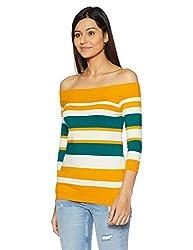 United Colors of Benetton Womens Cotton Pullover (17A12GLD1E02I901M_Multi-coloured)