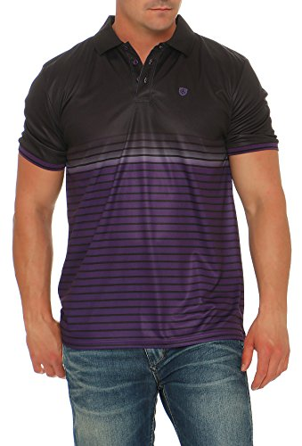 Herren Climacool Polo Golf Shirts (Island Green Hochwertiges Polo-Shirt Marke Gr. 54, 1652 - BlackAubergine)