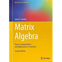 Matrix Algebra: Theory, Computations and Applications in Statistics (Springer Texts in Statistics)