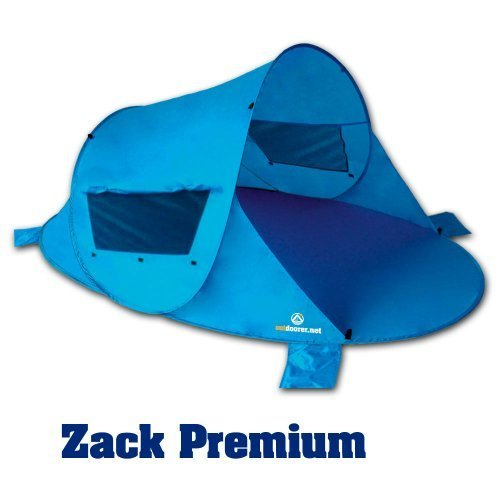 Outdoorer Pop up Strandmuschel Zack PREMIUM, UV 80, inkl. Sandheringe & 3 Fenster
